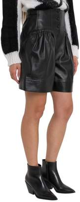 Alberta Ferretti Leather Shorts With High Waist