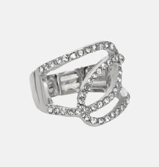 Avenue Diamond Weave Stretch Ring