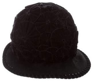 Philip Treacy Embellished Wool Hat Black Embellished Wool Hat