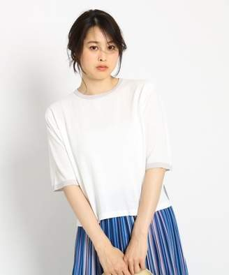Dessin (デッサン) - 【37%OFF】デッサン5分袖Tシャツニットレディースホワイト(002)01(S)【Dessin】【タイムセール開催中】