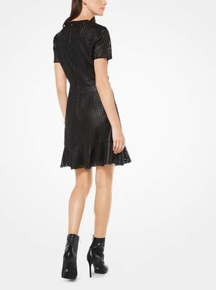 MICHAEL Michael Kors Perforated Faux-Leather Dress