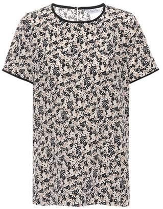 Max Mara Louvre floral-printed silk top