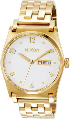 Nixon 36mm Jane Bracelet Watch, Golden/White