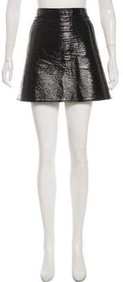 Courreges Coated Mini Skirt