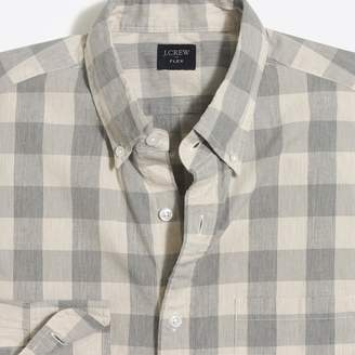 J.Crew Factory Flex heather washed shirt in medium gingham