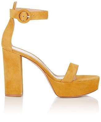 3de568383a640 ... at Barneys New York · Gianvito Rossi Women s Portofino Suede Platform  Sandals - Yellow