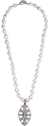 Loree Rodkin 18-karat Rhodium White Gold Multi-stone Necklace