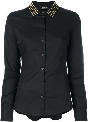 Twin-Set studded collar shirt $255.63 thestylecure.com