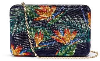 Judith Leiber 'Bird of Paradise' crystal pavé clutch