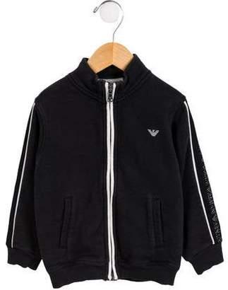 Armani Junior Boys' Zip-Up Knit Sweatshirt