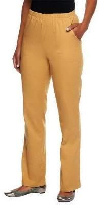 "Denim & Co. How Timeless"" Regular Boot Cut Pants w/Side Pockets"