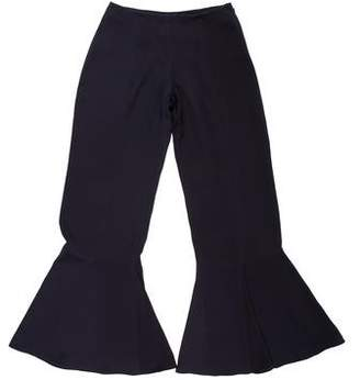 Armani Collezioni Mid-Rise Flared Pants