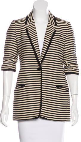 Elizabeth And James Elizabeth and James Striped Oversize Blazer
