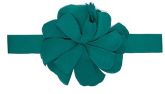 Adriana Degreas - Le Fleur Flower Embellished Crepe Belt - Womens - Green
