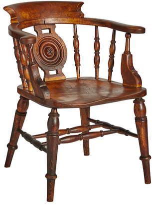 Rejuvenation Carved & Turned English Chestnut Windsor Chair