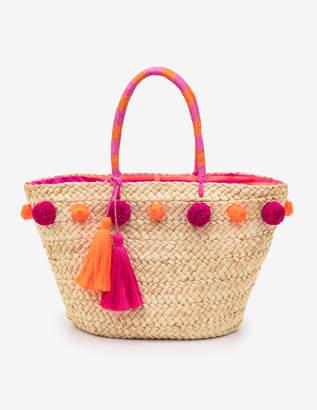 Boden Pompom Beach Bag