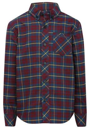 M&Co Burgundy check shirt