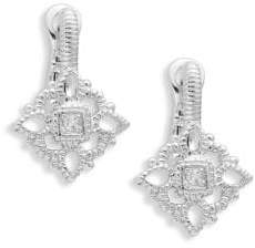 Judith Ripka La Petite Sterling Silver & White Topaz Drop Earrings