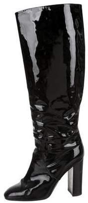 Bottega Veneta Patent Leather Knee-High Boots