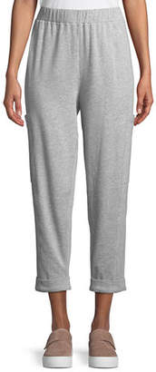Eileen Fisher Tapered-Leg Heathered Cropped Slouch Pants, Petite