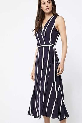 Witchery Sleeveless Stripe Wrap Dress
