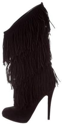 Christian Louboutin Forever Tina Fringe-Trimmed Mid-Calf Boots