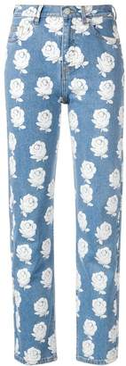Kenzo high-waisted floral jeans