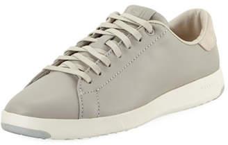 Cole Haan GrandPro Leather Tennis Sneaker, Silver Fox