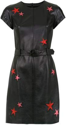 Nk belted leather dress