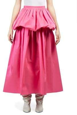 Stella McCartney Taffeta Ruffle Maxi Skirt