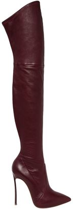 120mm Blade Stretch Leather Boots $1,500 thestylecure.com