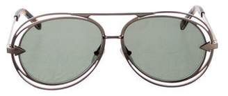 Karen Walker Tinted Metal Sunglasses