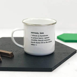 XOXO Personalised Dictionary Definition Enamel Mug