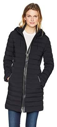 Mackage Women's Calna Thigh Length Hooded Light Weight Down Jacket
