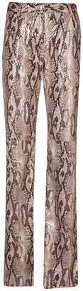 MSGM Snake Effect Trousers