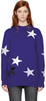 Givenchy Blue Oversized Stars Sweater