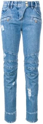 Balmain Biker ripped jeans