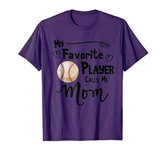 My Favorite Player Calls Me Mom T-Shirt Baseball Softball