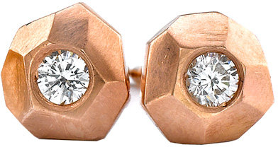 Ron Hami Rose Carved Stud Earrings