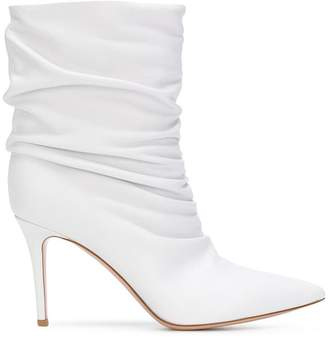 Gianvito Rossi gathered ankle boots