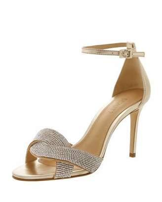 Schutz Jolita Crystal-Embellished Evening Sandals