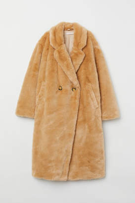 H&M Faux Fur Coat - Beige