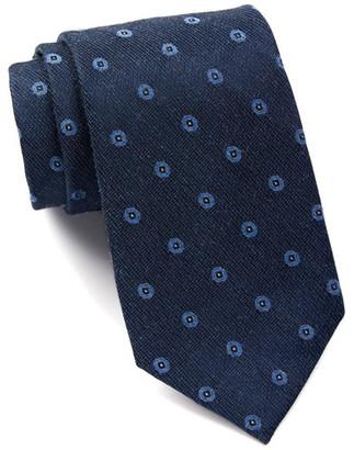 Calvin Klein Denim Metallic Dot Tie $65 thestylecure.com