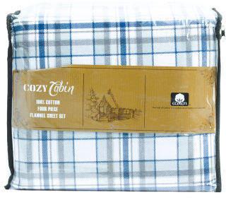 Johan Plaid Flannel Sheet Set