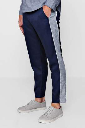 boohoo Tapered Smart Trouser With Side Panel