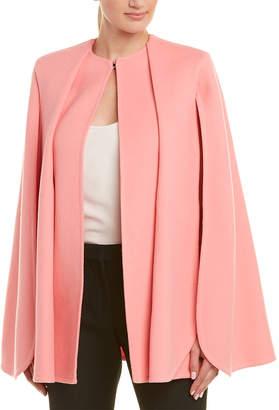 Alexander McQueen Pleated Wool & Cashmere-Blend Cape