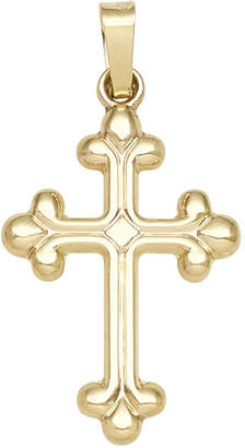 FINE JEWELRY 14K Yellow Gold Rounded-Edge Cross Pendant