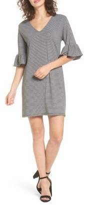Women's Cotton Emporium Flare Sleeve Stripe Dress $35 thestylecure.com