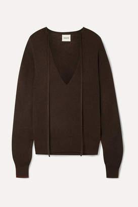 KHAITE Emma Stretch-cashmere Sweater - Dark brown