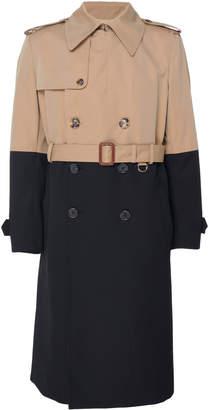 Alexander McQueen Colorblocked Cotton-Gabardine Trench Coat
